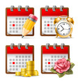 business calendar vector image