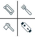 apparatus icons set collection of carpentry vector image