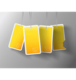 Four hanging yellow cards You can place your own vector image vector image