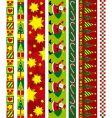 Christmas design border vector image vector image