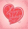 valentine calligraphy heart 2 380 vector image
