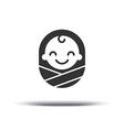 Logo design baby cheerful joyful kid Logo design vector image