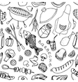 Doodle patern barbecue vector image