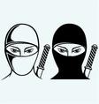 Ninja assassin vector image