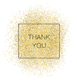Thank You Gold Inscription vector image vector image