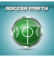 Green grass sphere with soccer field vector image