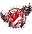 Heart and roses crown vector image
