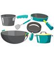 Kitchen equipments vector image