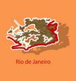 modern map - rio de janeiro sticker vector image