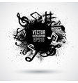 Music black blot vector image