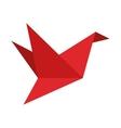 origame crane icon vector image