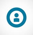profile bold blue border circle icon vector image