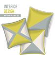 Set of decorative pillows vector image