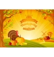 Thanksgiving day of beautiful vector image