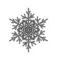 winter snowflake holiday element black snowflake vector image