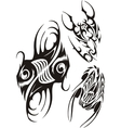 Zodiac Signs - fish and scorpion set vector image