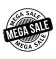 Mega Sale rubber stamp vector image