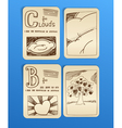 vintage style pictures on paper sheets vector image