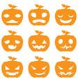 Pumpkin halloween set vector image