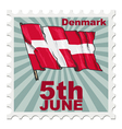 national day of Denmark vector image