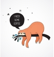 Cute hand drawn sloths  funny design vector image