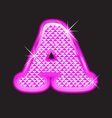 A letter pink bling vector image