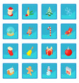 christmas icon blue app vector image