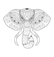 Elephant coloring for adults vector image