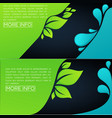 green leaves and blue waterv horizontal template vector image