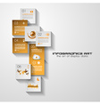 Modern UI Flat style infographic layout for data vector image