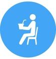 Sitting Man Drinking Soda vector image