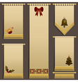 christmas wall hangings vector image