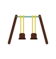 Playground swings icon flat style vector image
