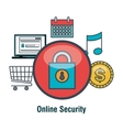 online security shopping web graphic vector image