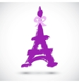 Abstract grunge Eiffel Tower symbol vector image