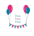 buntings with baloons vector image