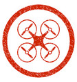 copter rounded grainy icon vector image