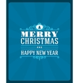 Merry Christmas invitation card vector image vector image
