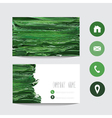 oil painted business card vector image vector image