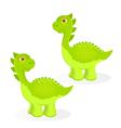 Cartoon dinosaur characters vector image vector image