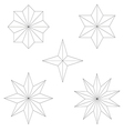 graphics star set vector image