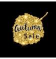 Autumn Sale brush lettering Gold glitter banner vector image