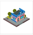 barber shop isometric building isolated vector image
