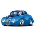 classic street rod coupe custom car cartoon vector image