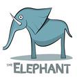Elephant Cartoon - on White Background vector image