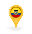 Location Ecuador vector image