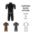 wetsuit icon in cartoon style isolated on white vector image