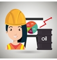 woman and industry isolated icon design vector image