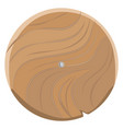 wooden board in round shape isolated on white vector image
