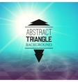 Abstract cyan sunset with violet triangle field vector image
